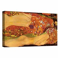 Art Wall Water Snakes Gallery Wrapped Canvas by