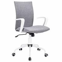 DJWang Grey Modern Desk Comfort White Swivel
