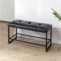 Zinus Faux Leather Tufted / Hallway / Entry / Bed