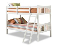 Caribou Solid Hardwood Twin Bunk Bed, White