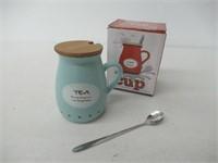 MyLifeUNIT Positive Quote Ceramic Tea Mug with