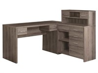 Monarch Specialties I 7318 Reclaimed-Look L Shaped