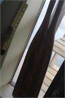 2 Wooden Boat Oars