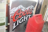 Coors Light Plastic Sign,23x30