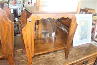 Vintage Occasional/Magazine Table,23x12x24 tall
