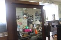 Dresser with Mirror,58x18x70 tall