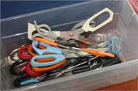 Crate of Various Scissors