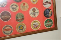 Framed Beer Advertising Patches,24x30