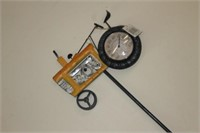 Metal Tractor Yard Thermometer