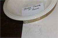 "Yankee Candle 12"" Bowl"