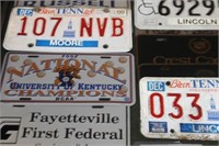 Lot of Car Tags