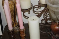Lot of Lamps & Candle Holders