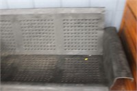 Vintage Metal Patio Glider,Missing Bottom Section