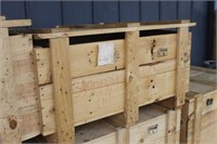 Wooden Crate with Lid,39x34x21 tall