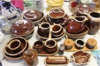 Lot of Brown Dishes,Hull,etc