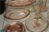 Lot of Pink Depression Glassware