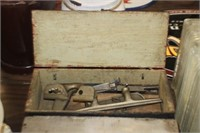 Vintage Wooden Box of Stanley Plane Pieces