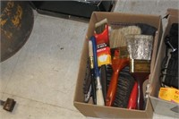 Box of Various Brushes