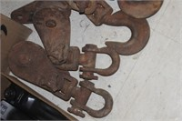 Lot of Pulley/Rigging Hooks