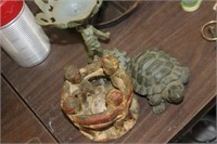 Candle Holders & Turtle Decor