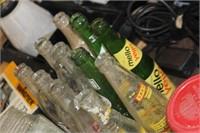 Lot of Vintage Soda Bottles