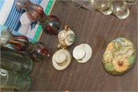 Mini Cups & Saucers, Oil Lamps,etc
