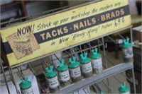Vintage Nail Organizer with Nails