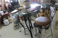"""36"""" High Top Table with 2 Stools"""