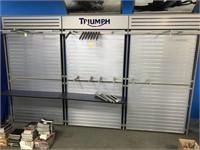 Triumph Corporate identity wall display