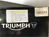 Triumph license plate holder