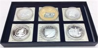 AMERICAN MINT SILVERPLATE COIN SET