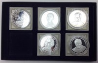AMERICAN MINT SILVERPLATE PRESIDENTS COIN SET