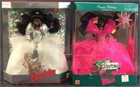 90 & 92 HAPPY HOLIDAYS AFRICAN AMERICAN BARBIE