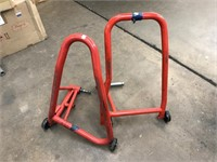 2 motorcycle display stands
