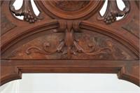 Renaissance Revival Walnut Marble Top Hall Tree