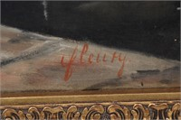Signed Fleury, Oil on Canvas of a Girl