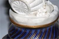 Pair of Sevres Porcelain & Bronze Candlesticks