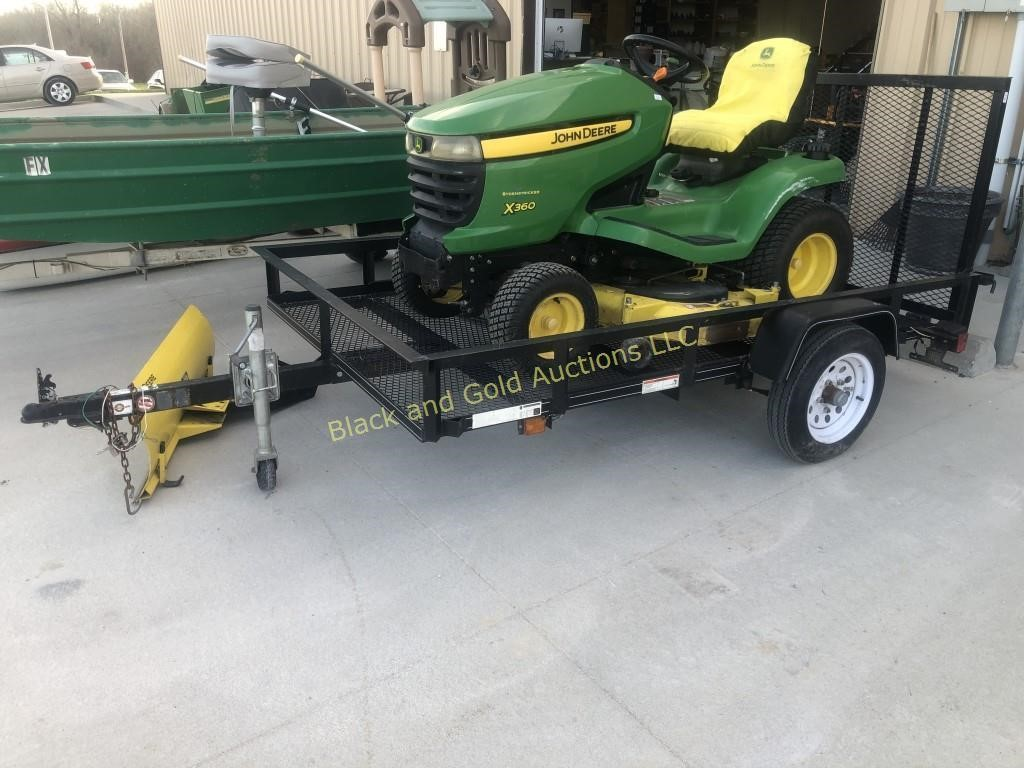 Carry On 5 X 8 Lawn Mower Trailer With Ramp Live And Online Auctions On Hibid Com