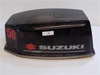 SUZUKI 50 HP BOAT ENGINE COWL - SMALL CRACK ON
