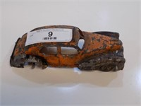 VINTAGE ROUGH CONDITION KIDDIE TOY TAXI CAB