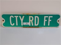 RETIRED CTY RD FF STREET SIGN