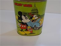 VERY COOL VINTAGE MICKEY MOUSE CHEINCO WASTE CAN
