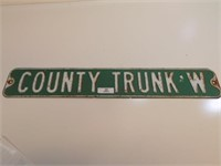 RETIRED COUNTY ROAD SIGN