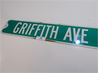 RETIRED GRIFFITH AVE ROAD SIGN