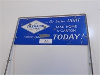 VINTAGE CHAMPION LAMPS STORE DISPLAY SIGN