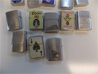 LOT OF VINTAGE ZIPPO STYLE LIGHTERS
