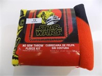 NEW STAR WARS NO SEW FLEECE BLANKET KIT