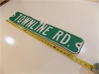 TOWNLINE RD RETIRED STREET SIGN