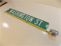 WASHINGTON ST RETIRED STREET SIGN