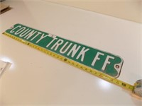 COUNTY TRUNK FF RETIRED STREET SIGN